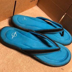 Speedo Flip flops sandals memory foam size 10 blue